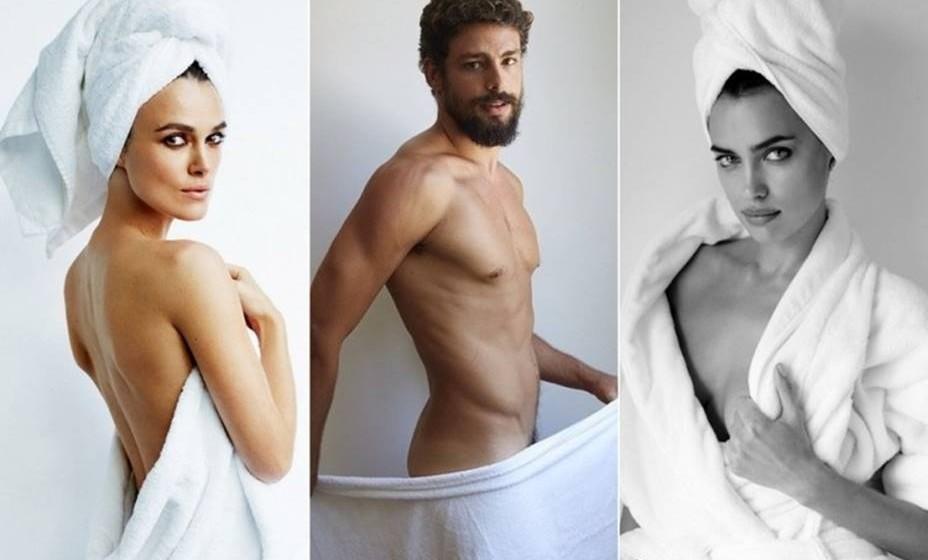 """O fotógrafo já captou mais de 100 famosos para o projeto pessoal """"Towel Series"""", que começou em 2013 com uma foto de Kate Moss. Veja algumas imagens desta restrita lista."""