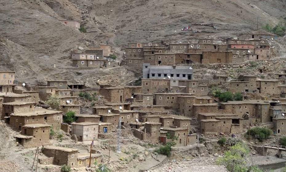 Aldeia berbere no Alto Atlas.
