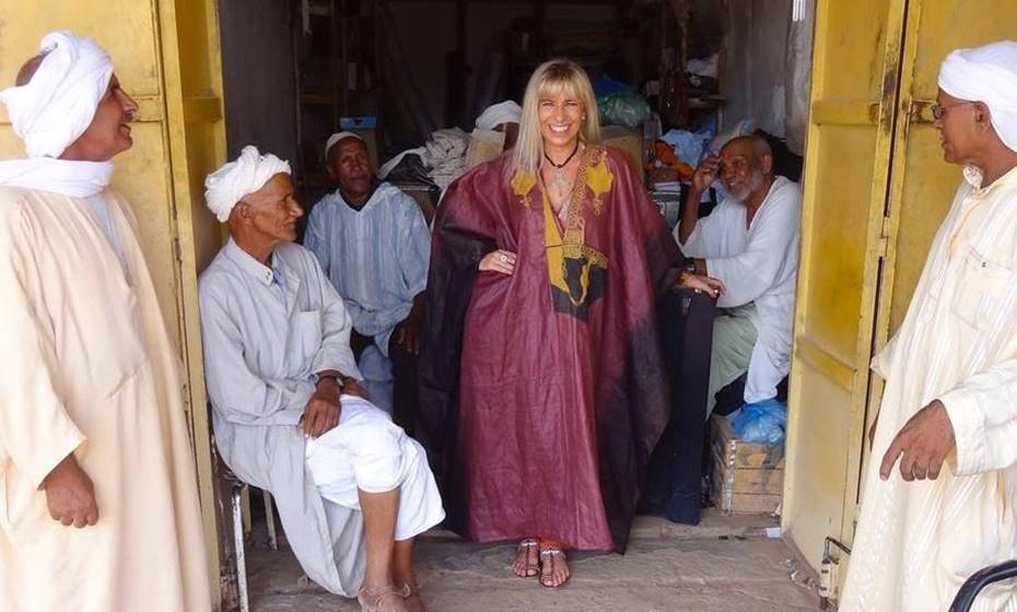 """A """"princesa"""" portuguesa em Marrocos."""