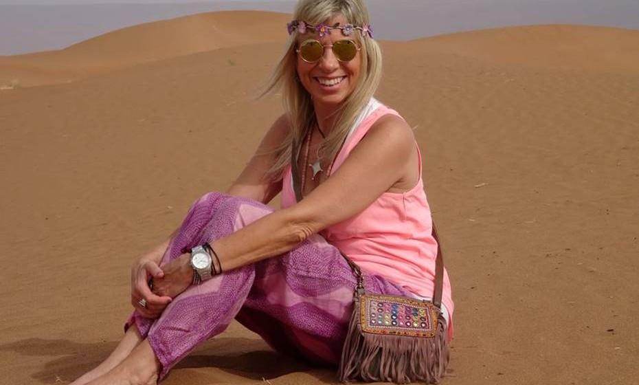 Maria João Pavão Serra no deserto.