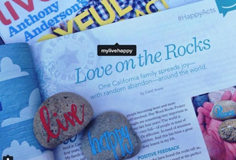 O projeto 'Word Rocks' na imprensa.