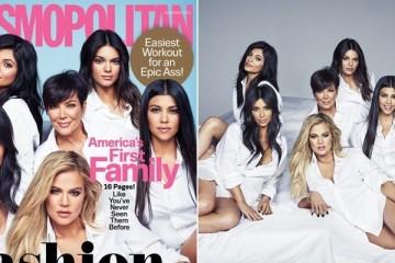 Família Kardashian e Jenner na capa da Cosmopolitan