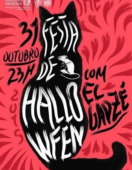 Évora - Festa de Halloween @ SHE: A She comemora a noite de Halloween com o DJ El Gadzé que se prepara para aterrorizar a noite, que promete ser fantasmagórica. Local: Sociedade Harmonia Eborense Horário: 23 Horas