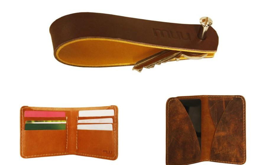 Estes são alguns acessórios que podem ser úteis no dia-a-dia do seu pai: Uma carteira, um porta-chaves ou uma capa para o telemóvel. Na imagem: Muu.