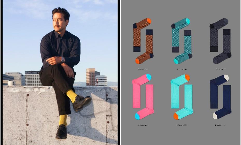 'Meias? Mas isso é tão básico', pensou você. A 'Dressed' é uma linha de meias criada especificamente para homens. O design, as cores e os padrões são subtis e foram concebidos a pensar no fato de escritório.