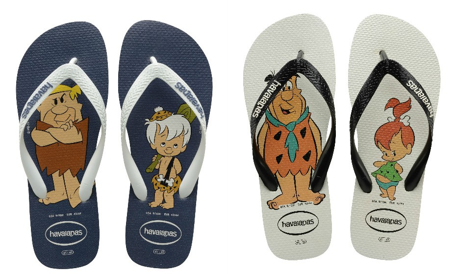 A marca 'Havaianas' lançou dois modelos para homenagear todos os pais. Os desenhos são inspirados no imaginário 'Flinstones'.