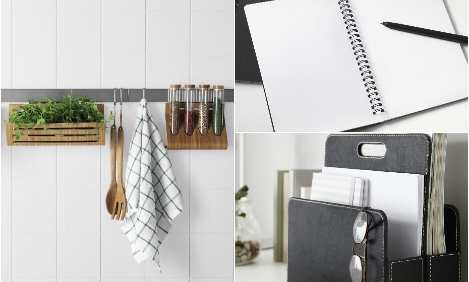 Os presentes úteis são os melhores. Ofereça-lhe algo para decorar a cozinha, caso o seu pai seja o 'cozinheiro chef' da casa. Pode ainda oferecer material de escritório como este caderno ou este organizador de pastas. Na imagem: IKEA.