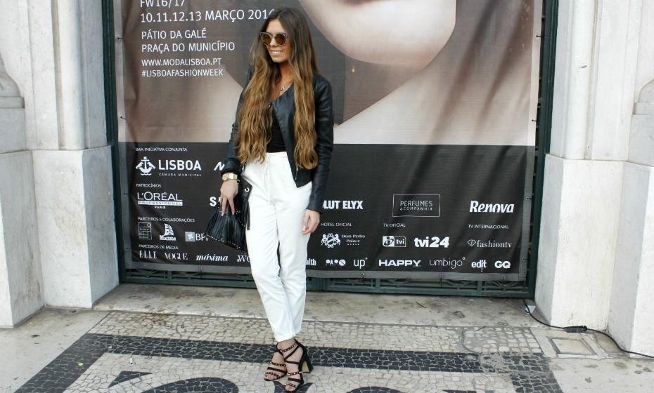 «O meu look é prático e formal», explicou Andreia Oliveira.