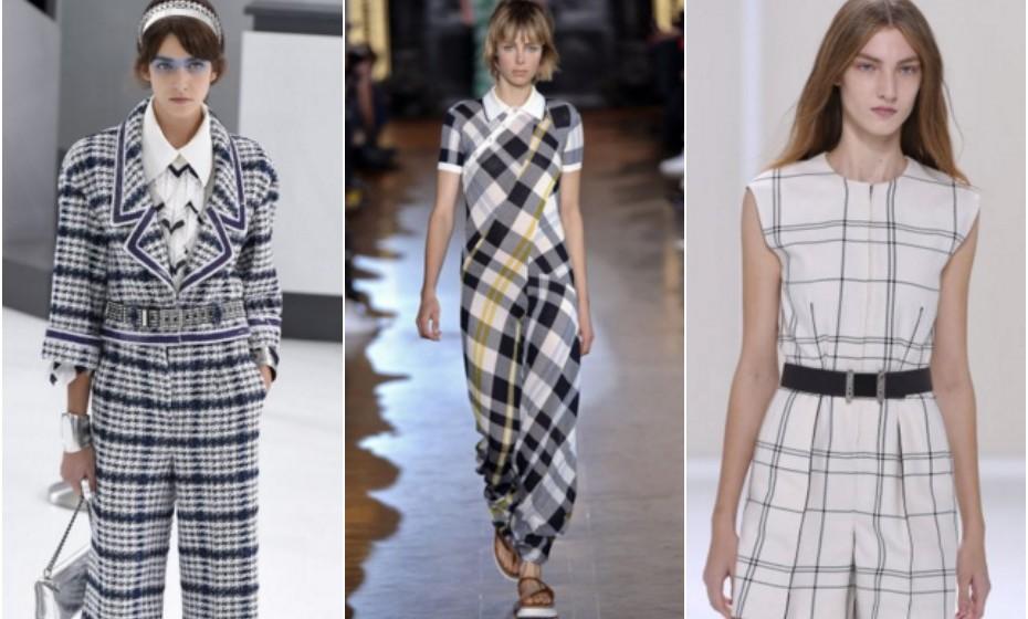 Quadrados – Chanel, Stella McCartney e Hermès.