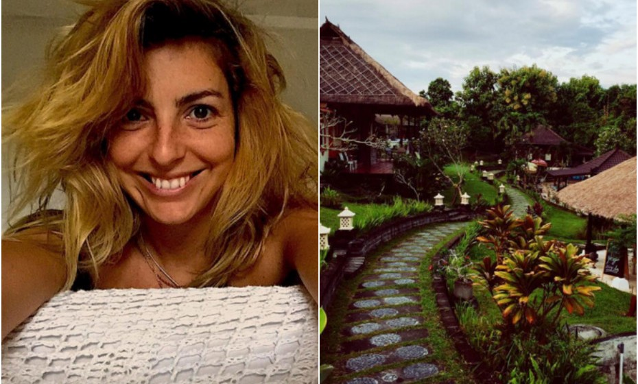 Recentemente, Jessica Athayde esteve de férias na Indonésia.
