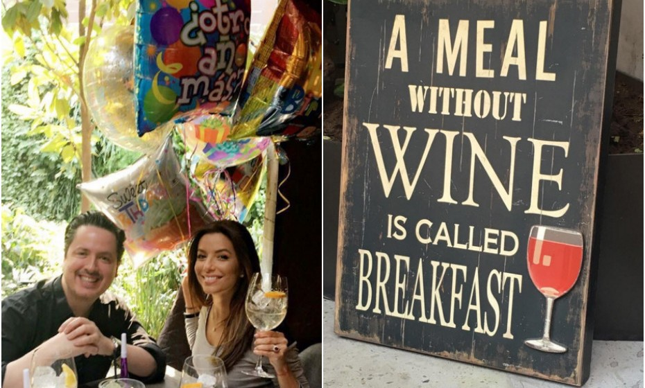 Eva Longoria decidiu festejar o seu aniversário no México.