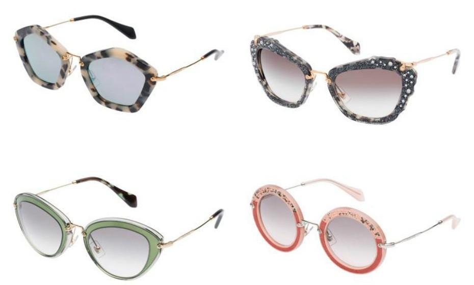 Este tipo de óculos são ideais para quem gosta de arriscar e apostar em looks diferentes. Na imagem: Miu Miu