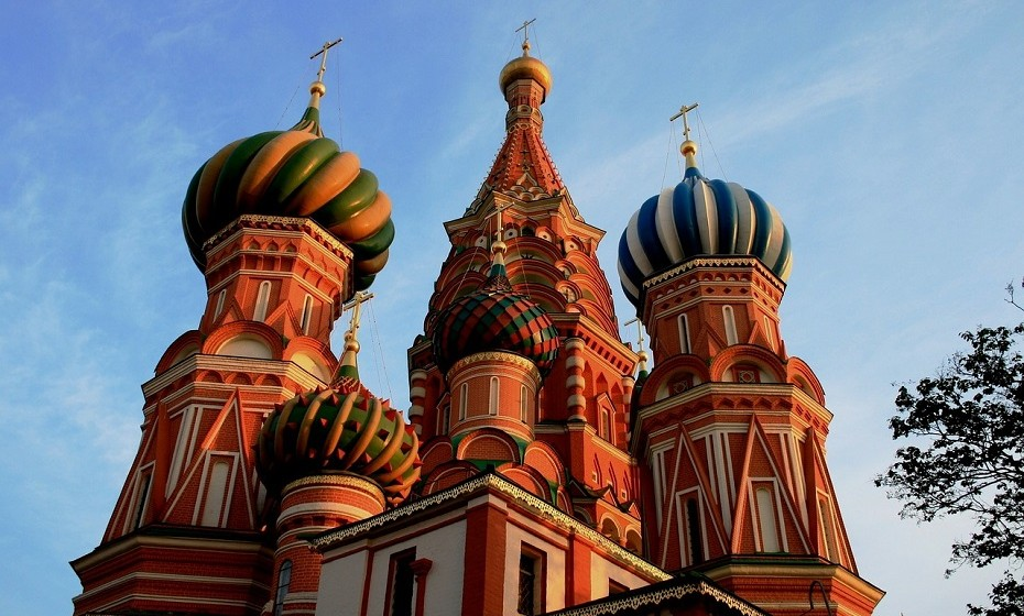 St. Basil's Cathedral, Moscovo, Rússia.