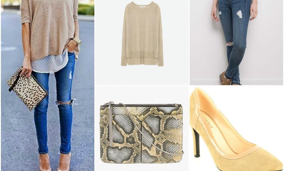 Look 2 - Calças Springfield, mala Parfois, sapatos Foreva e camisola Zara.