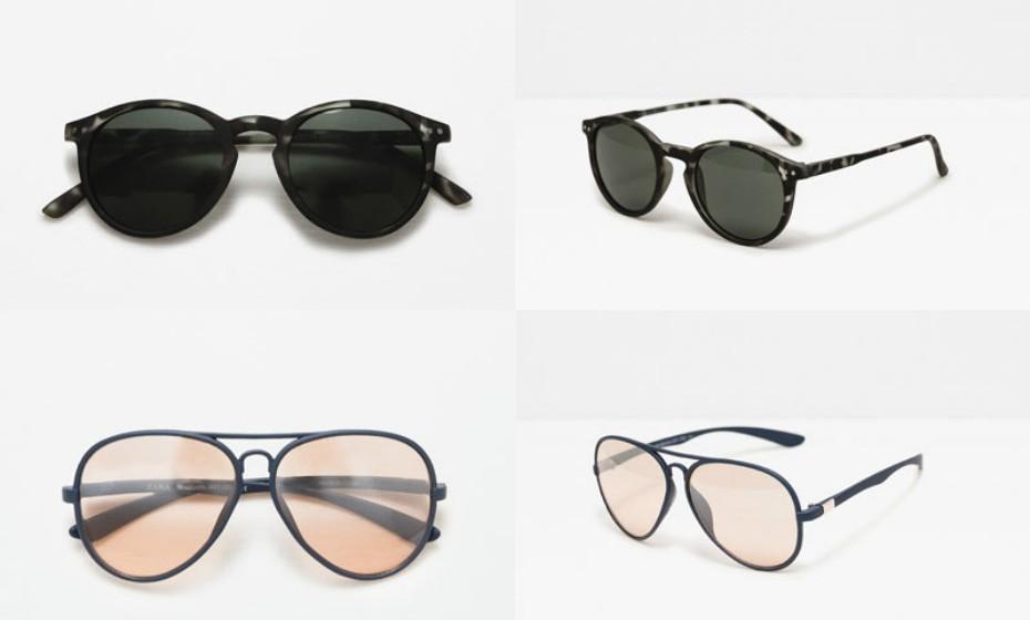 Estas são algumas das sugestões de óculos de sol da Zara para homem.