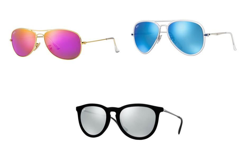 Arrisque em lentes com cores vibrantes. Na imagem: Ray-Ban.