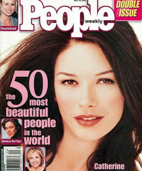 Catherine Zeta-Jones, 2001.