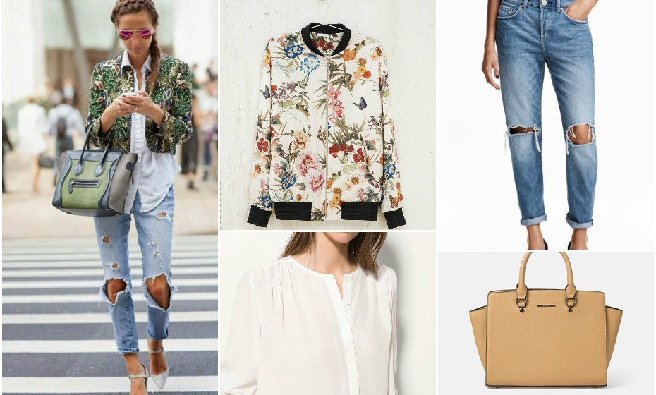 Look 6 - Casaco Bershka, mala Lanidor, camisa Massimo Dutti e calças H&M.
