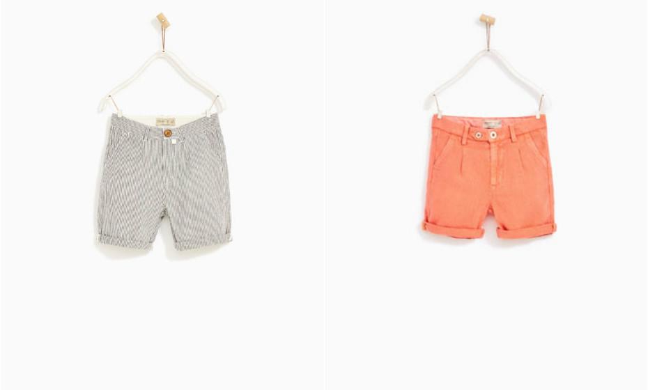 Algumas opções de bermudas da Zara.
