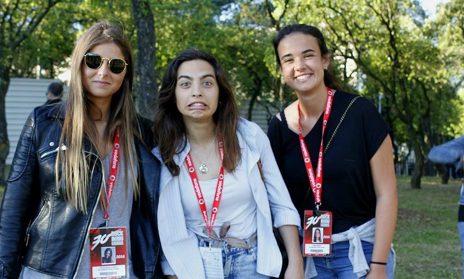 Carlota, Beatriz e Inês estiveram a trabalhar no Rock in Rio, com a campanha #faceforgreen, mas nem isso as impediu de experienciaram bons momentos de diversão.