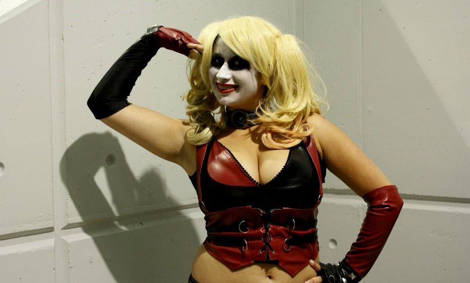 Rebeca Louro, 17 anos, inspirou-se na personagem Harley Quinn.