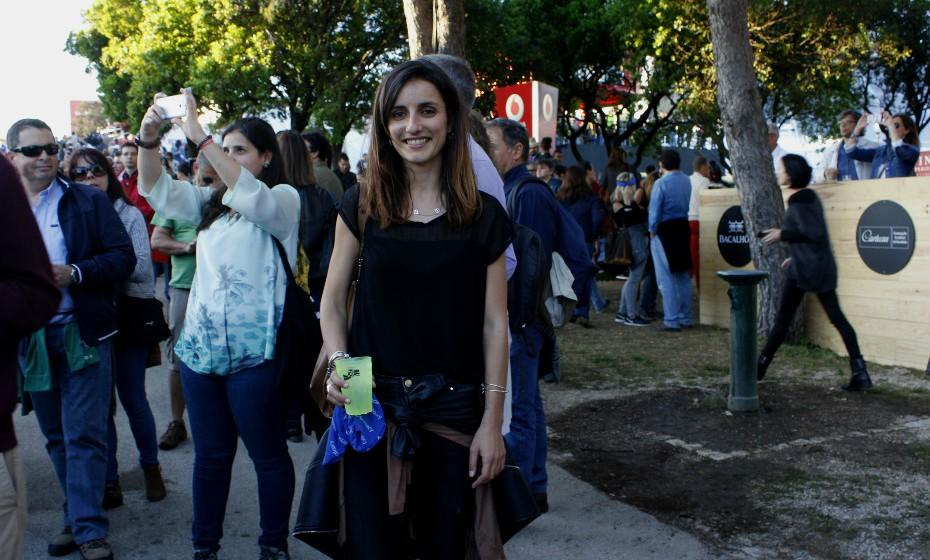 Ana Santos, 21: «Não pode faltar um casaco de cabedal!».