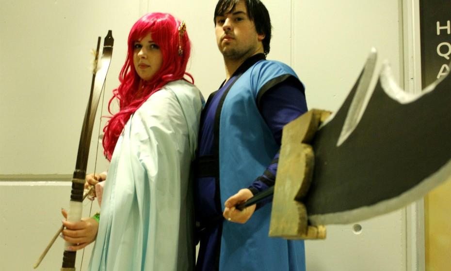 Vera Leite está vestida de 'Yona' e Nuno Freitas de 'Hak', personagens populares do mundo anime.