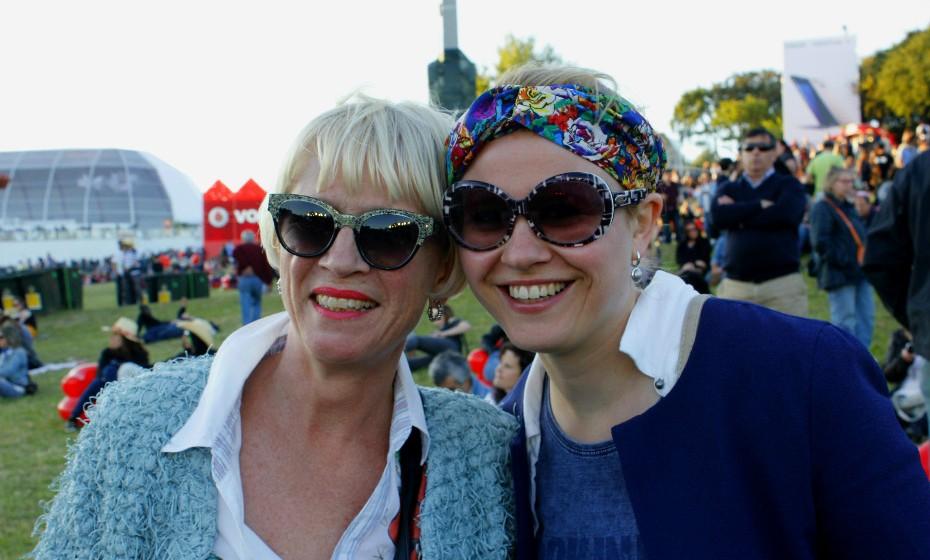 Susette e Kary vieram de propósito da Holanda para ver o grande Bruce Springsteen.