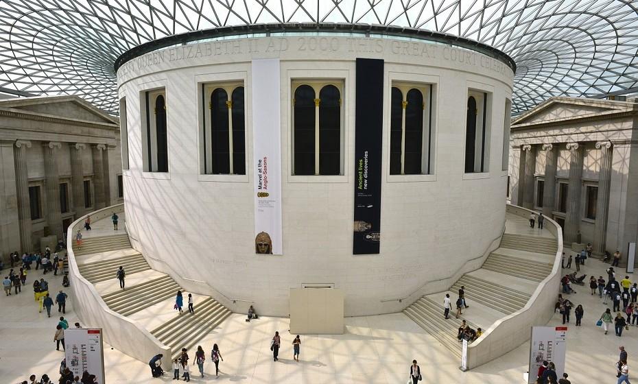 Apenas 1% dos itens possuídos pelo British Museum (Londres) está em exibição.