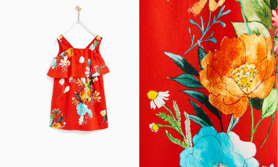 Este vestido da Zara grita verão.