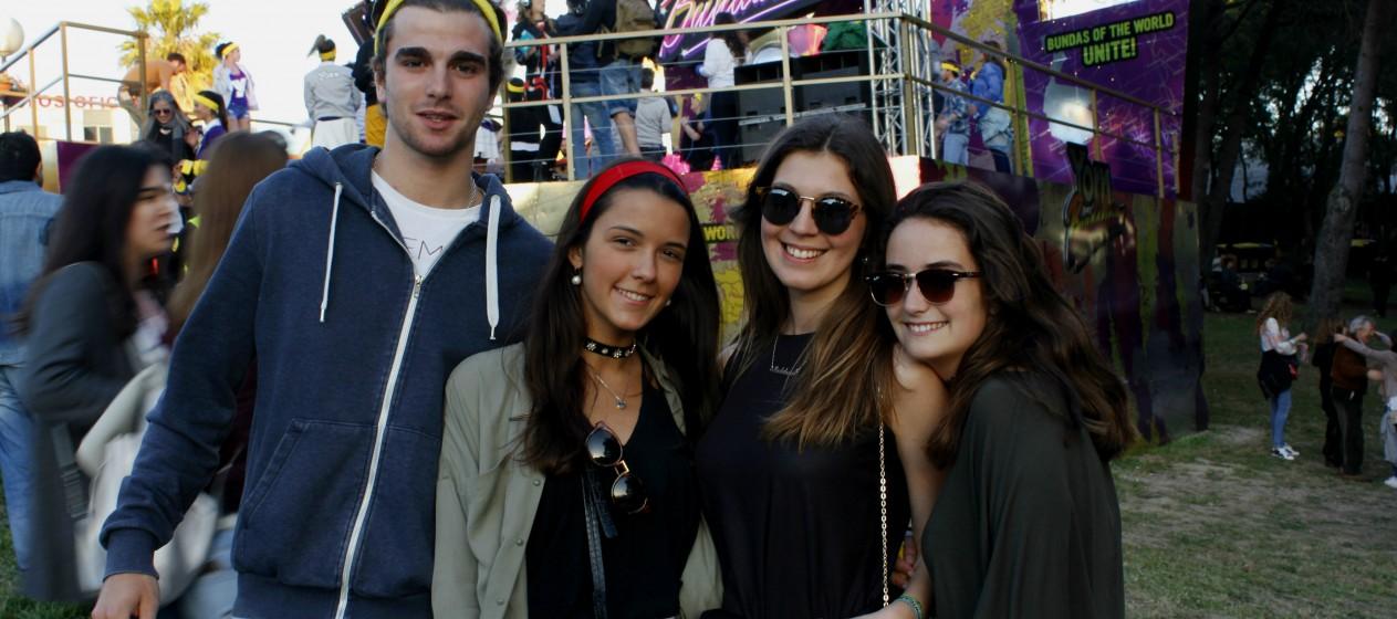 Rita, Madalena, Nuna e Francisco decidiram fazer-se à estrada e ir até à Cidade do Rock.