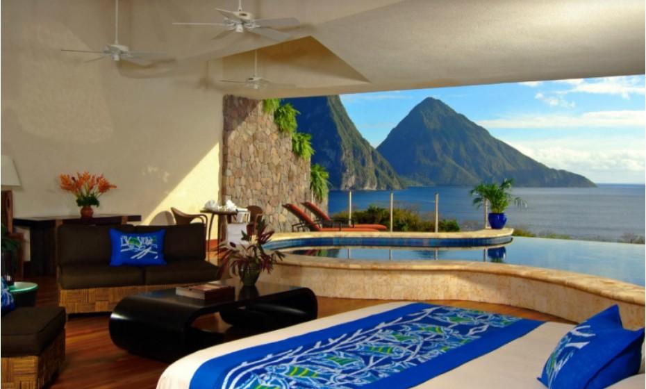 Jade Mountain Resort, em St. Lucia, Caraíbas.