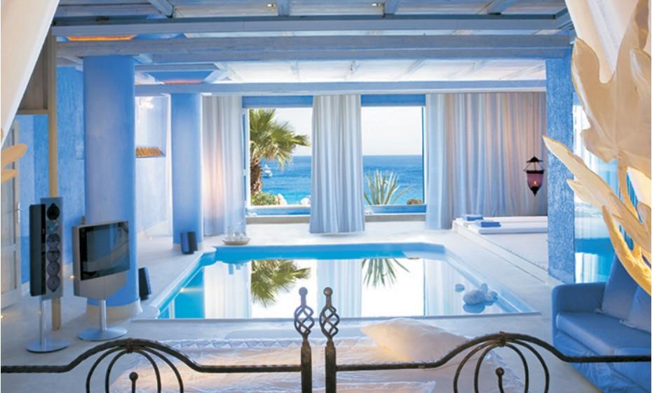 Grecotel Mykonos Blu Hotel, em Mykonos, Grécia. Fotografias: 'Trip Advisor'.