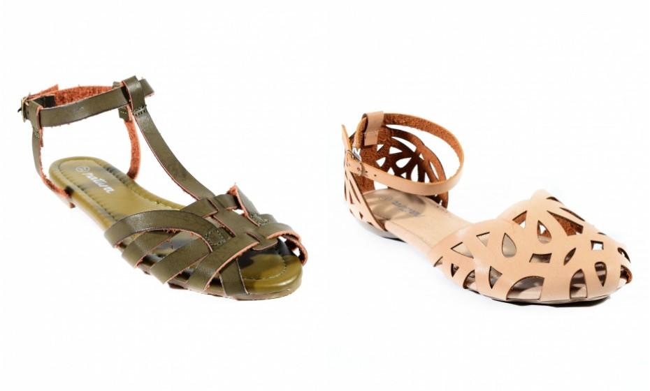 As sandálias rasas estilo grego são uma tendência que veio para ficar. São simples e ficam bem com quase tudo! Na imagem: Natura.