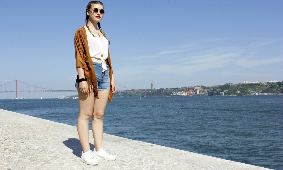 Carolina Abrantes, 17 anos, veio para o continente com a família para desfrutar de umas boas férias.