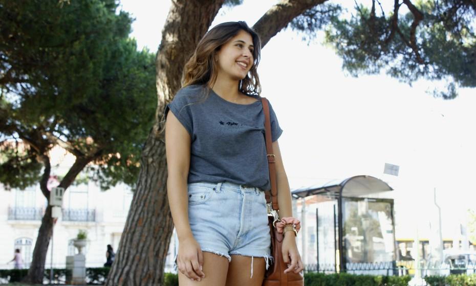 Inês Lopes, 19, prefere usar calções no verão: «Odeio usar calças», confessa.