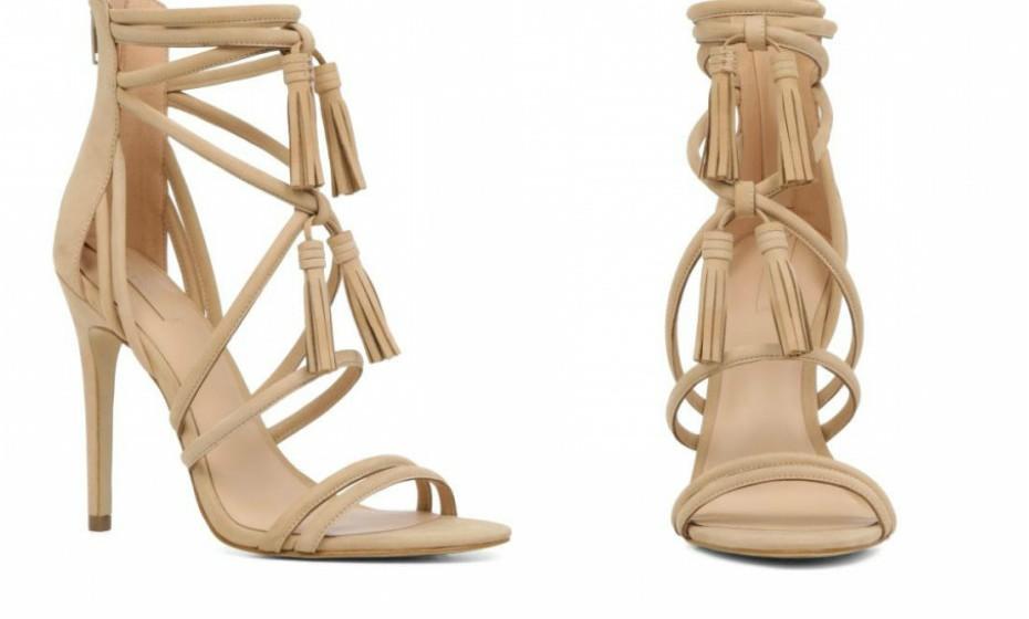 Estas sandálias 'Catarina' de salto alto com atilhos, da marca Aldo, são perfeitas para um jantar em que precisa de estar mais elegante.