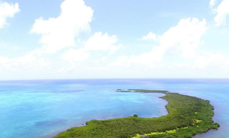 Crawl Caye situa-se na América Central. A ilha está à venda por 3,544,012 euros.