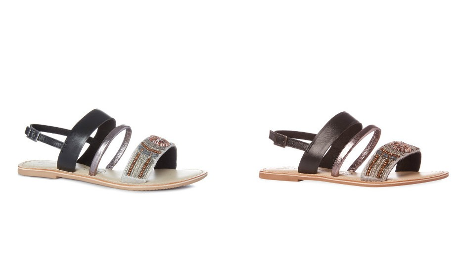 Sandálias de pele com contas da Primark em duas cores, ideais para o uso diário sem correr o risco de cair num estilo banal.