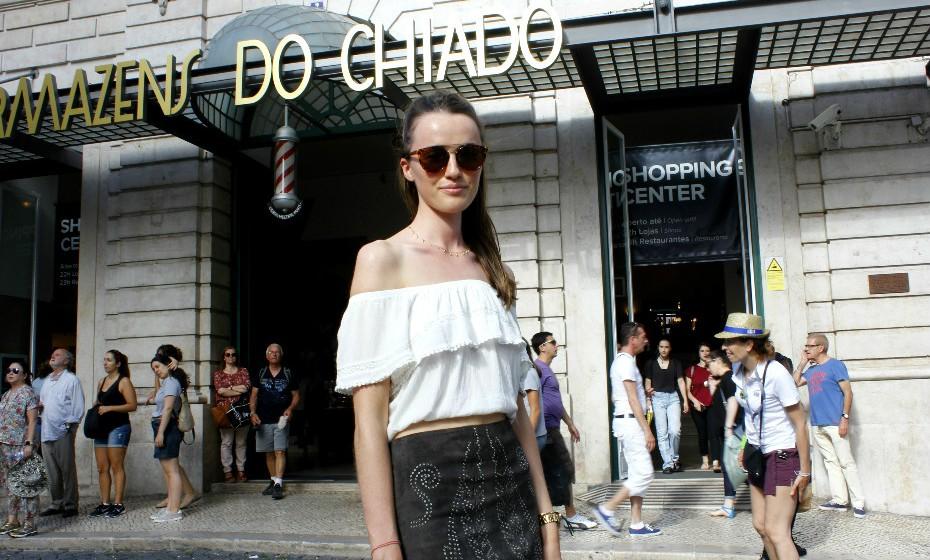 Tanya Robertson, 22 anos, é londrina e está de férias em Portugal.