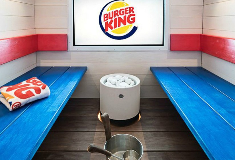 Sala de sauna do Burger King.