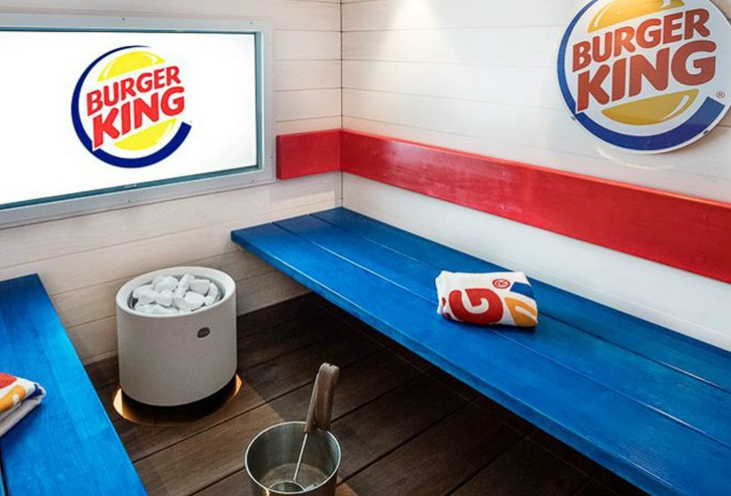 Sala de sauna do Burger King. Fotografias: CNN.