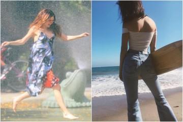 Saiba o que as celebridades andam a vestir nos dias quentes de verão.