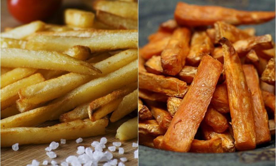 A batata doce em palito assada é uma versão mais saudável das batatas fritas comuns. E igualmente saborosa.