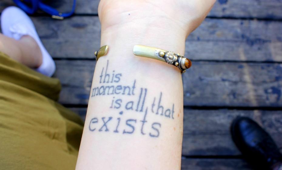 «Gosto de tatuagens simples e que me representem enquanto pessoa», diz Patti.