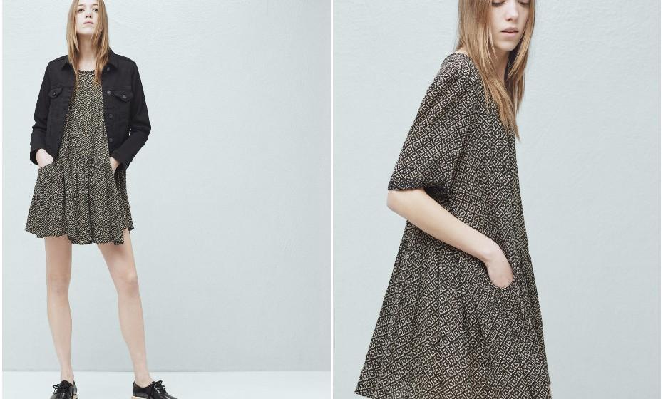 Pode usar vestidos o ano inteiro. Este é ideal para as noites mais frias e descontraídas. Na imagem: Mango (9,99€).