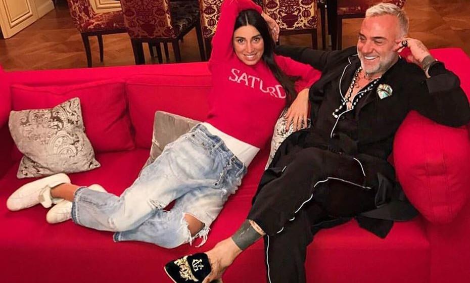 Gianluca Vacchi e a namorada,  a modelo Giorgia Gabriele