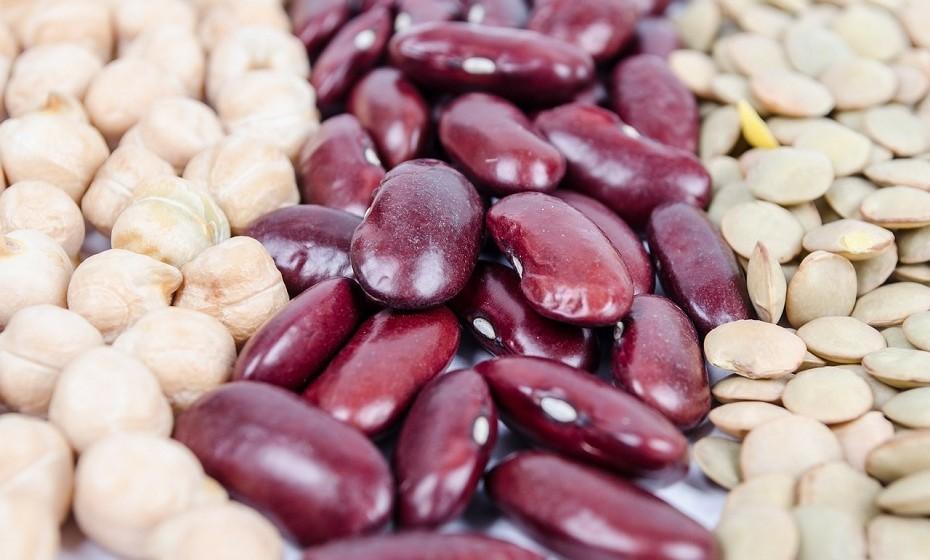 Todas as variedades de feijão e o grão-de-bico contêm um alto teor de proteína. São, ainda, excelentes fontes de hidratos de carbono complexos, fibras, ferro, ácido fólico, fósforo, potássio e outros compostos vegetais benéficos.