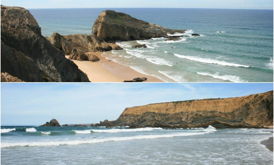 A Praia dos Alteirinhos fica perto da Zambujeira do mar, na Costa Vicentina. Vai ficar impressionado com a beleza deste local, como a forma como o sol brilha na maré baixa e traz à superfície os mexilhões, as vieiras, as conchas e os moluscos.