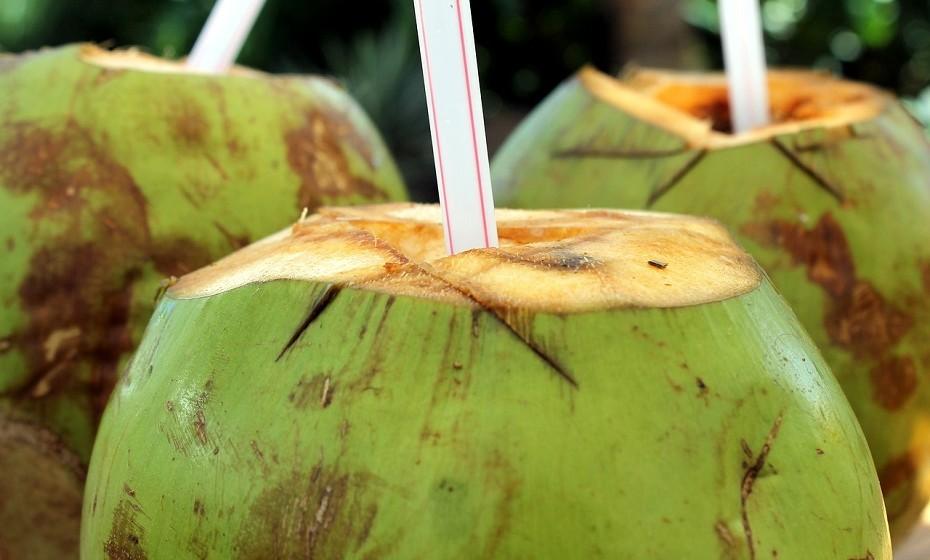 Depois de tanto locais visitados, a sede surge. Dê um passeio à beira mar enquanto desfruta de uma clássica água de coco para se refrescar.
